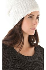 Rag & Bone Christina Beanie in White - Lyst