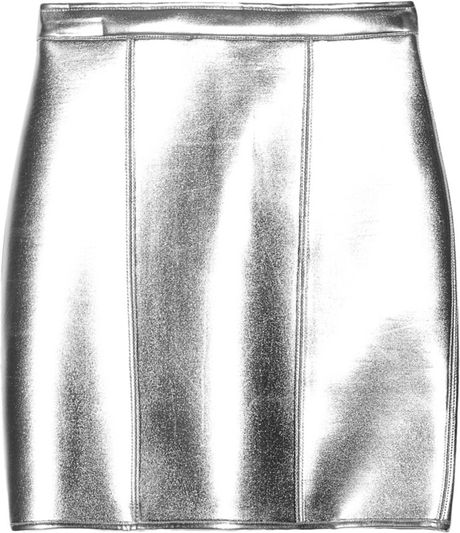 Sass & Bide The Star Turn Metallic Neoprene Mini Skirt in Silver - Lyst