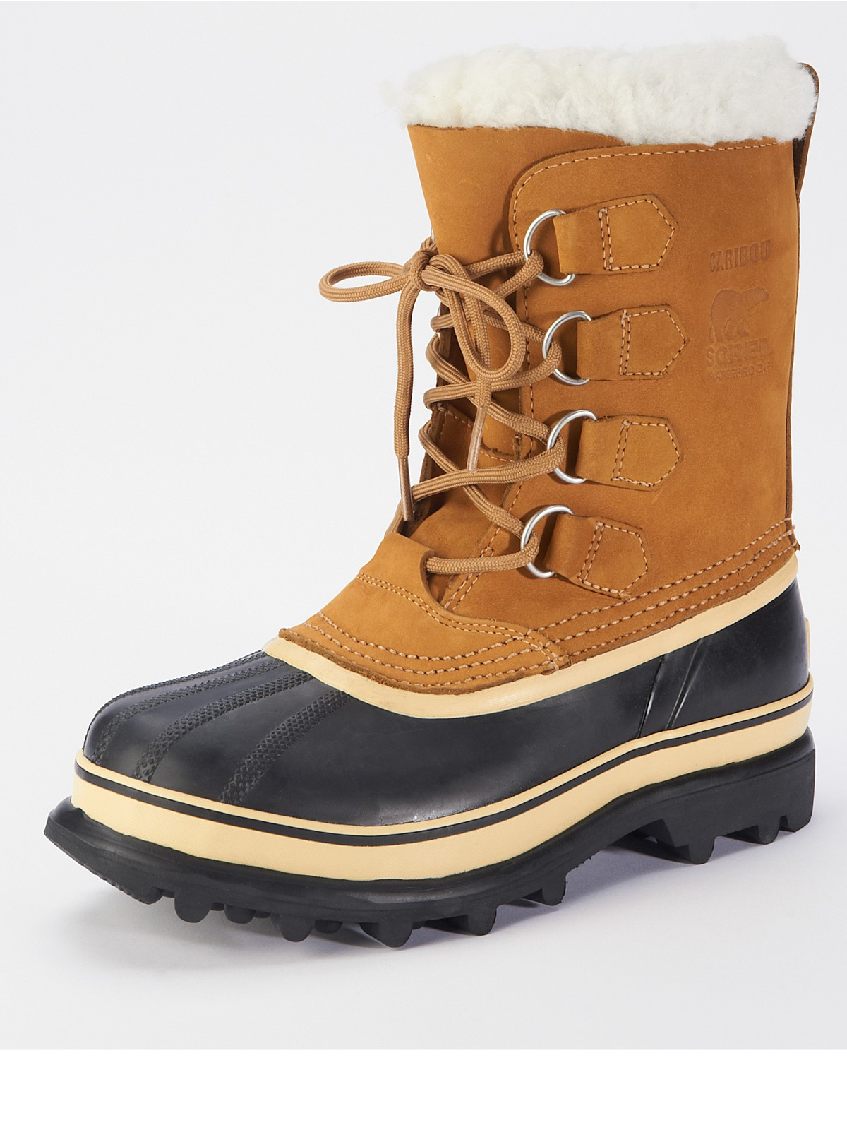 sorel sorel caribou boots in brown buff lyst