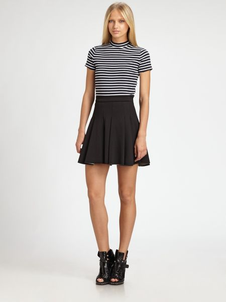 T By Alexander Wang Pleated Skirt in Black