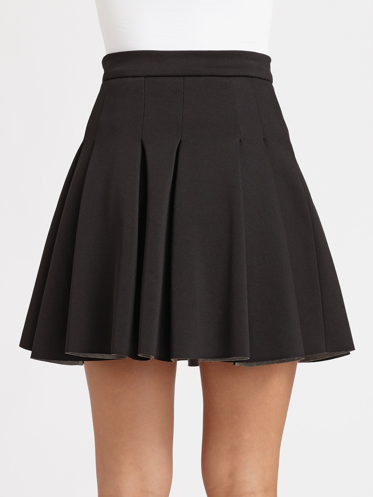 Lyst T By Alexander Wang Pleated Skirt In Black