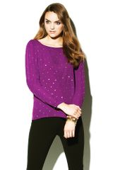 Vince Camuto Long Sleeve Studded Blouse - Lyst