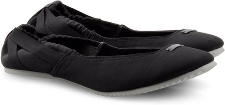 Adidas Slvr Ballerinas in Black - Lyst