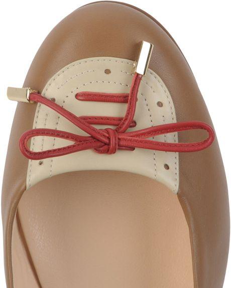 Bally Ballerinas in Brown (beige