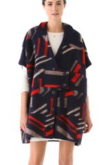 Cacharel Printed Wool Coat - Lyst
