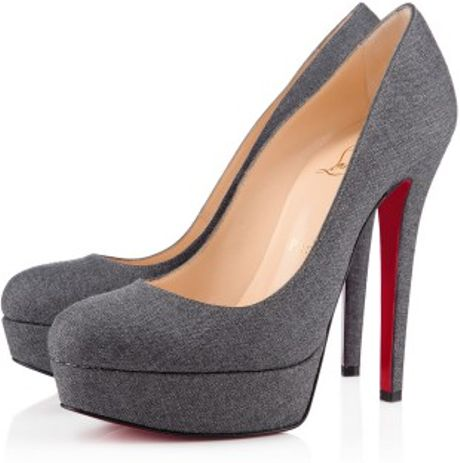 Christian Louboutin Bianca in Gray (grey) - Lyst