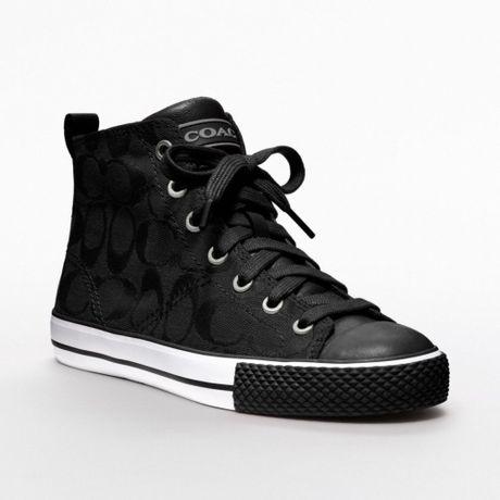 Coach Franca Sneaker in Black (black/black) | Lyst