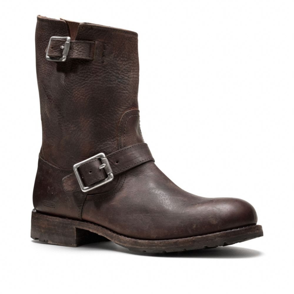 coach frye for coach rogan engineer boot in brown for