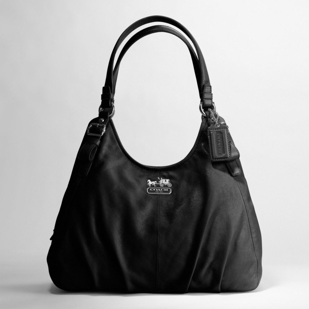 a4d492886ef5 ireland coach madison op art black silver metallic outline maggie shoulder  bag 18765 reusenation c86bb 6ce85  best price lyst coach madison leather  maggie ...