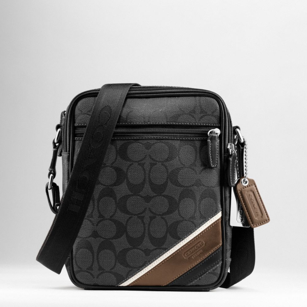 Coach Heritage Stripe Flight Bag In Black For Men Lyst