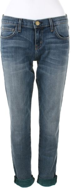 Current/elliott The Rolled Skinny Jeans in Washed Denim in Blue (black) - Lyst
