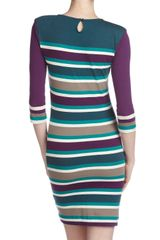 French Connection Koni Striped Dress in Multicolor (amethyst o) - Lyst