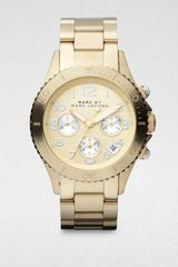 Marc By Marc Jacobs Goldtone Stainless Steel Chronograph Watch - Lyst