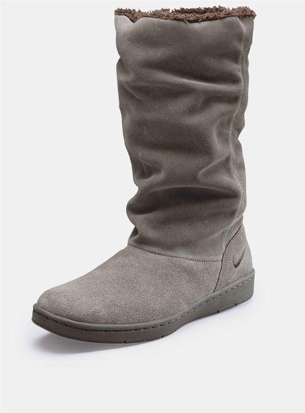 nike sneaker hoodie boots in brown lyst