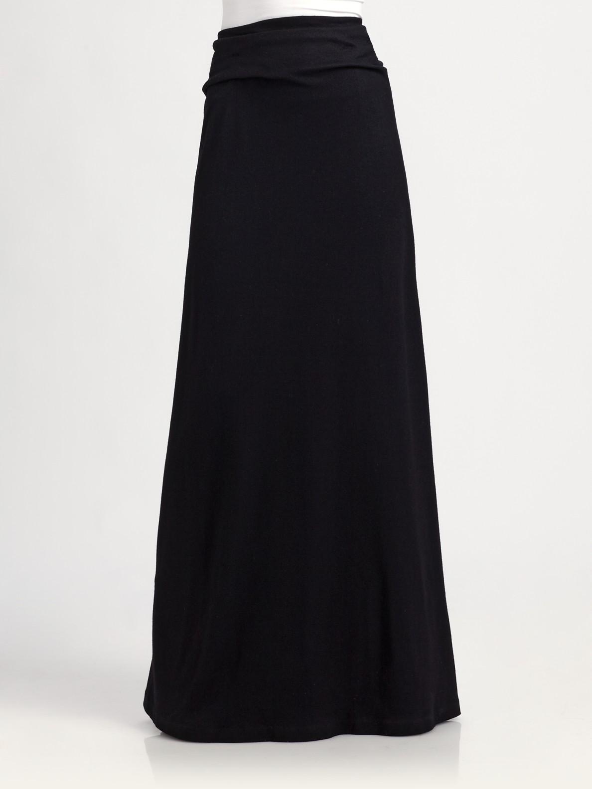 ralph blue label wool knit maxi skirt in