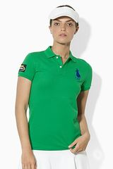 Ralph Lauren Tennis Refined Stretch Mesh Polo Shirt with Big Pony Logo - Lyst