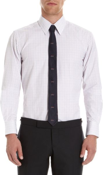 Thom Browne Graph Check Dress Shirt in White for Men