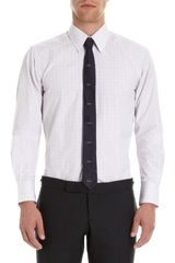 Thom Browne Graph Check Dress Shirt in White for Men - Lyst