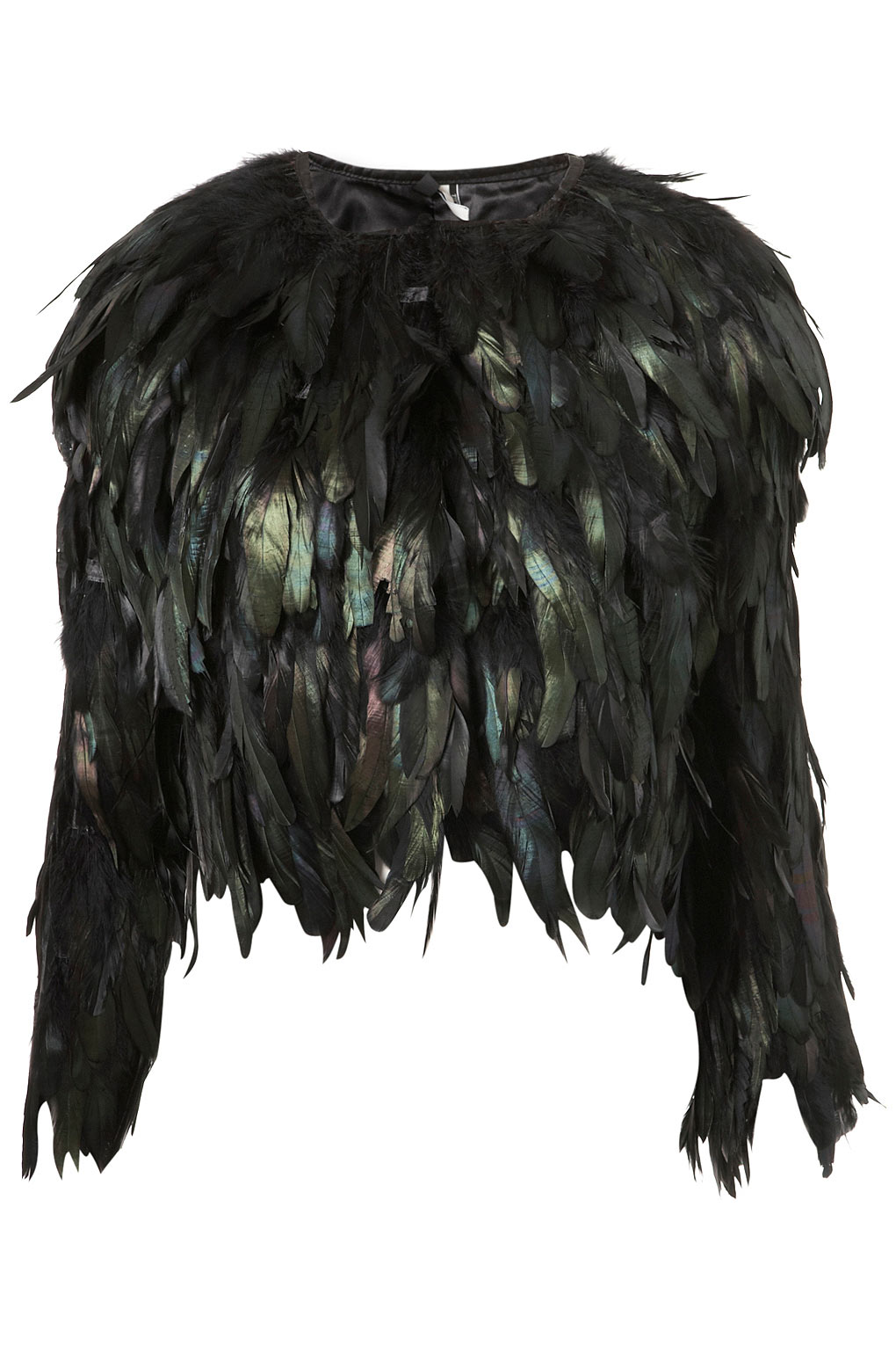 Topshop Black Feather Jacket Lyst