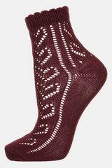 Topshop Heart Pointelle Ankle Socks - Lyst