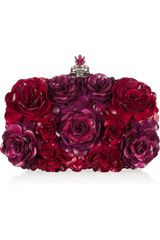 Alexander McQueen Enameled Flower Box Clutch - Lyst