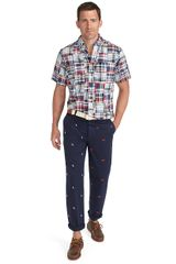 Brooks Brothers Clark Fourpanel Embroidered Pants - Lyst