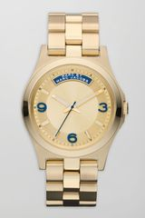 Marc By Marc Jacobs Baby Dave Yellow Golden Watch  - Lyst