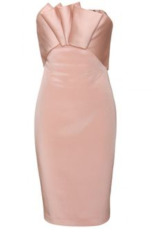 Marchesa Notte Marchesa Notte Strapless Cocktail Dress with Draping - Lyst