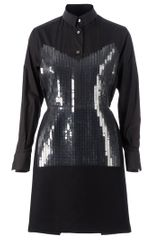 Sacai Sequinned Dress - Lyst
