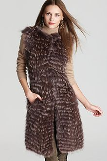 Theory Vest Caris Bavarian Coyote Fur - Lyst