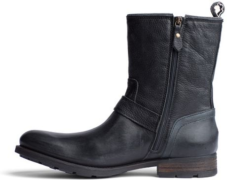 tommy hilfiger darryl ankle boots in black for men washed black. Black Bedroom Furniture Sets. Home Design Ideas