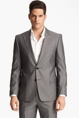 Versace Versace Trim Fit Stripe Suit - Lyst