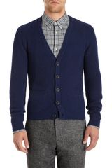 Adam Kimmel Ribbed V Neck Cardigan - Lyst