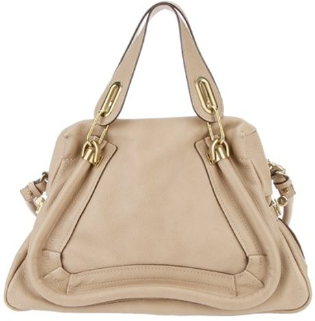 Chloé Structured Tote in Beige (nude) - Lyst