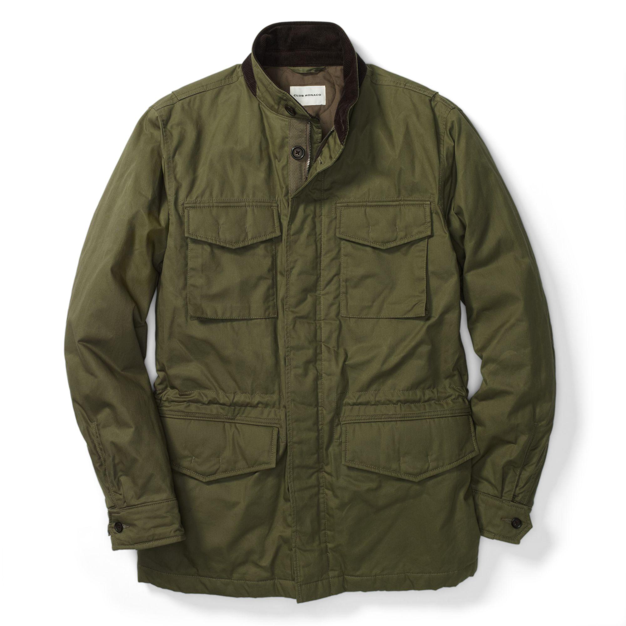 Lyst Club Monaco M65 Jacket In Green For Men
