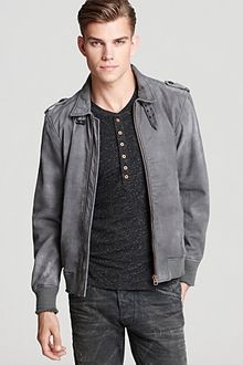 Diesel Lacco Leather Jacket - Lyst
