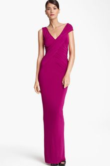 Donna Karan New York Collection Cap Sleeve Jersey Gown - Lyst