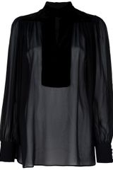 Gucci Sheer Blouse - Lyst