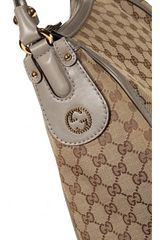 Gucci Scaarlet Large Gg Hobo Bag in Brown (white) - Lyst