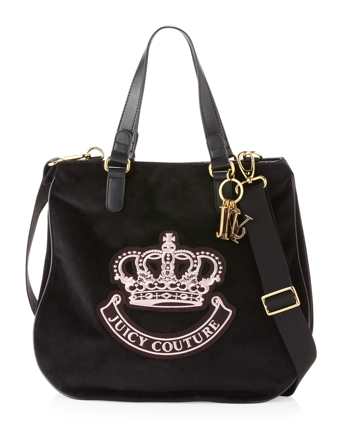 juicy couture victoria velour tote bag black in black lyst. Black Bedroom Furniture Sets. Home Design Ideas