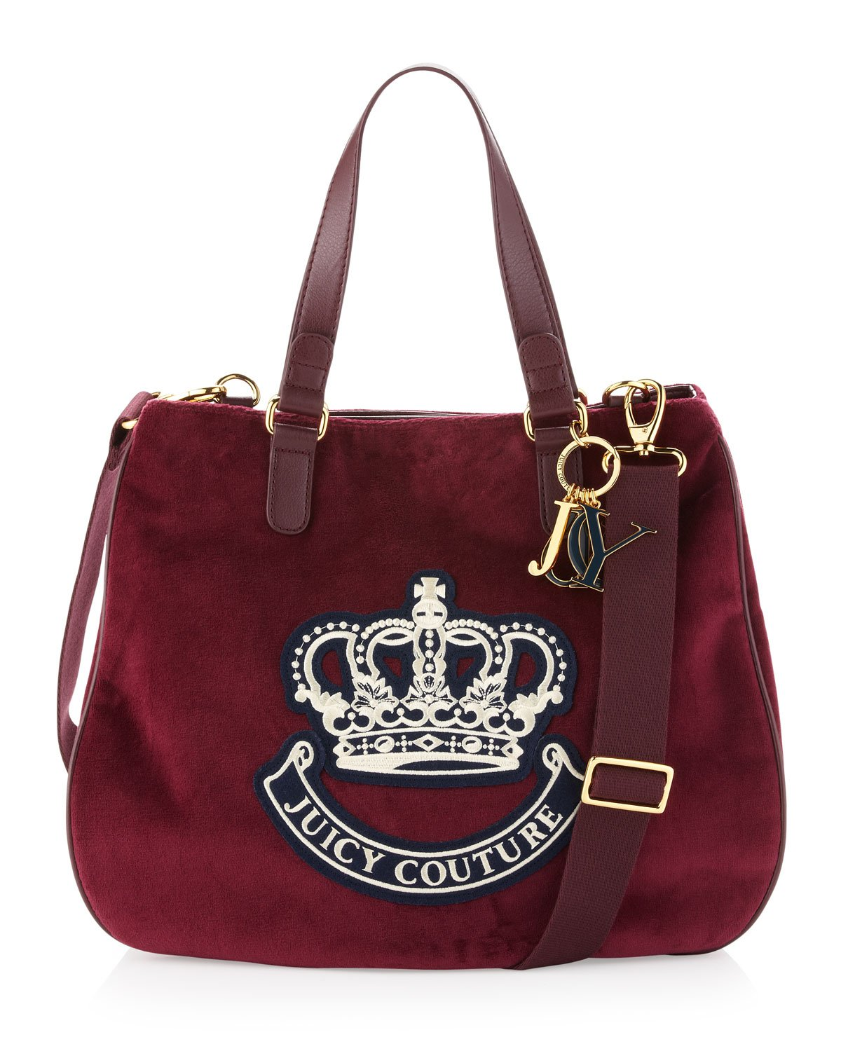 juicy couture victoria velour tote bag deep maroon in red deep maroo lyst. Black Bedroom Furniture Sets. Home Design Ideas