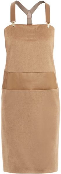 Max Mara Amabile Dress in Beige (camel) - Lyst