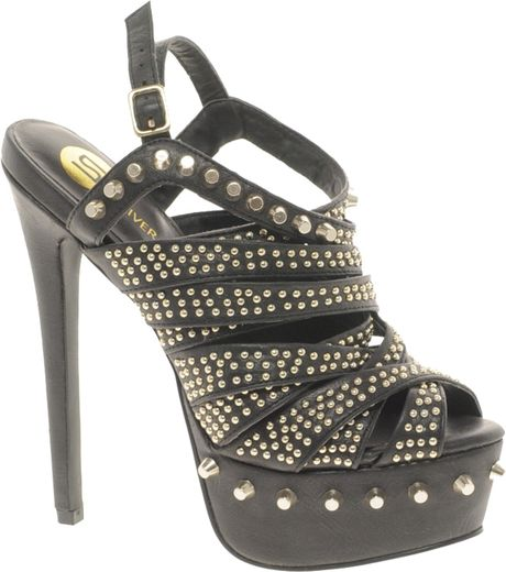 river island studded platform shoes in black lyst