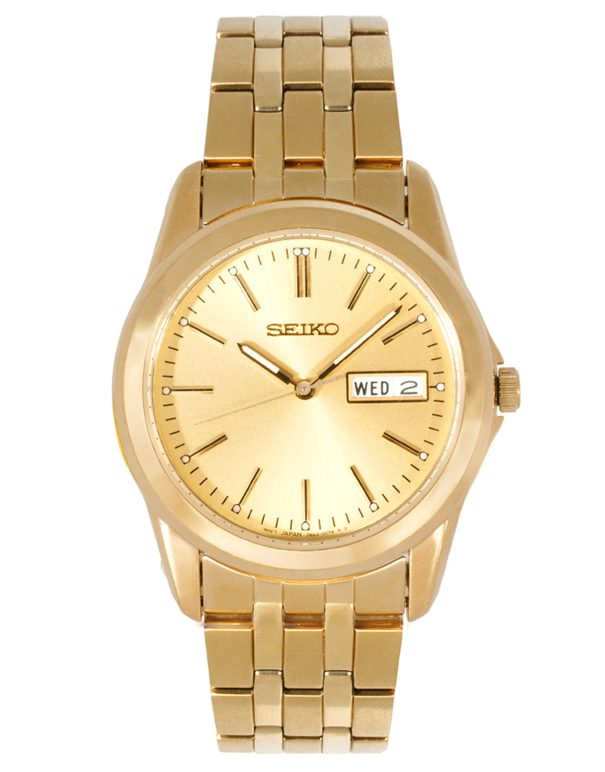 seiko bracelet sgga48p1 in gold for lyst