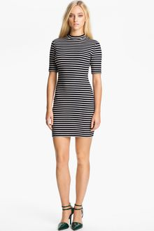 T By Alexander Wang Stripe Stretch Knit Dress - Lyst