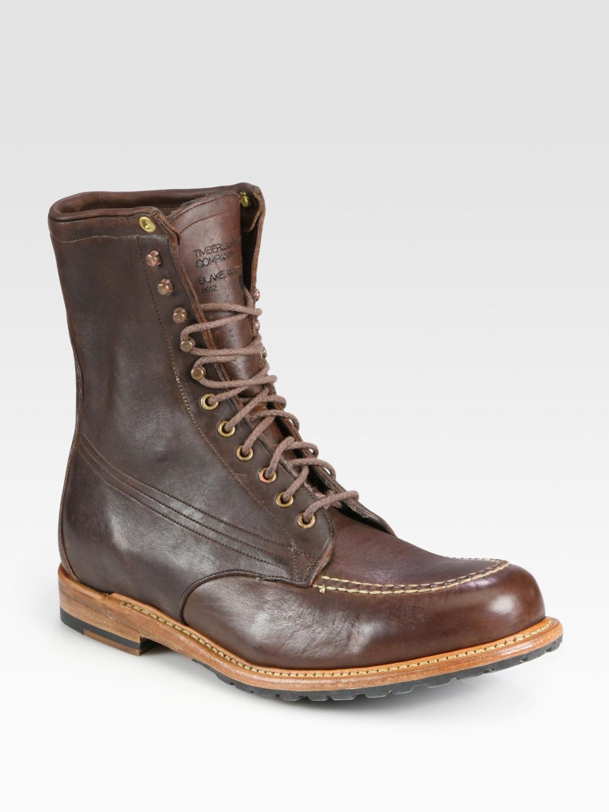 timberland blake winter moc boot in brown for men lyst. Black Bedroom Furniture Sets. Home Design Ideas