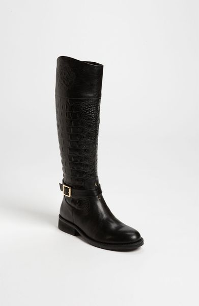 Vince Camuto Flavian Boot in Black (black alligator/ calf) - Lyst