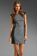 10 Crosby by Derek Lam Cap Sleeve Dress in Greyblack - Lyst
