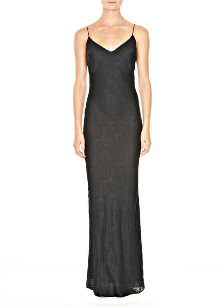 Alexander Wang Long Slip Dress in Black - Lyst