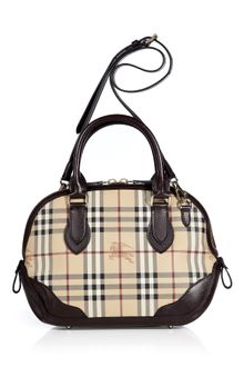 Burberry Chocolate Haymarket Small Orchard Bowling Bag - Lyst